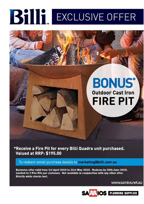 Billi Fire Pit Promo