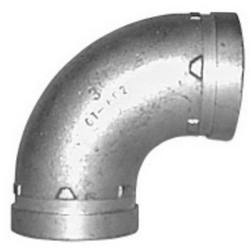 ELBOW R/G GALV 150MM X 90 DEGREE | Bends | Roll Grooved Pipe