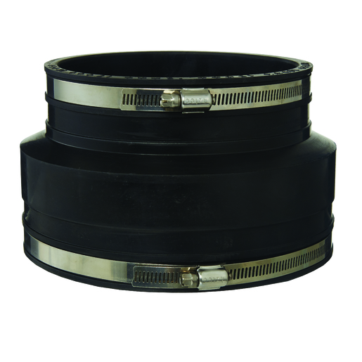RUBBER COUPLING BLACK 150MM PVC-VC