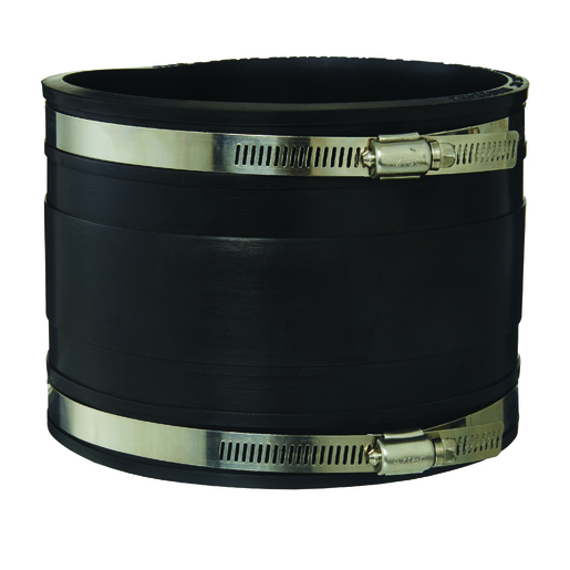 RUBBER COUPLING BLACK 150MM PVC