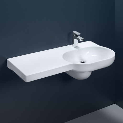 Opal 920 Rh Shelf Wb 1th Nof Wall Hung Basins