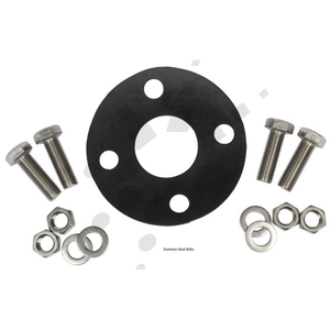 GASKET & BOLT SET RUBBER T-D 100MM S/S