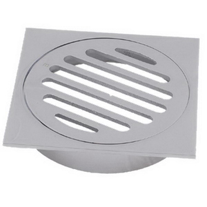 FLOOR GRATE BRS DROP IN PVC SQ 100MM CP