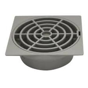 FLOOR GRATE PVC SQ S/W 90MM