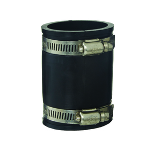 RUBBER COUPLING BLACK 50MM PVC