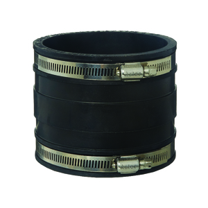RUBBER COUPLING BLACK 100MM PVC