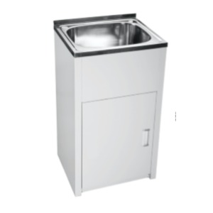 KORE LAUNDRY TUB 45L S/S & METAL CABINET