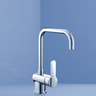 SARACOM SINK MIXER CHROME 4*