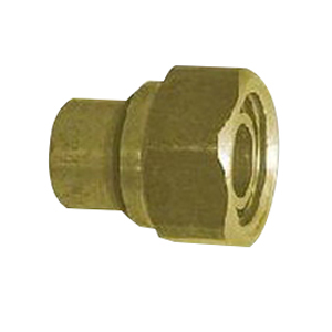 CONNECTOR STRAIGHT TAP #62 20ODX20MM NUT