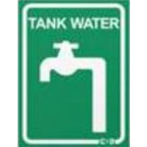 SIGN TANK WATER GREEN 100X75
